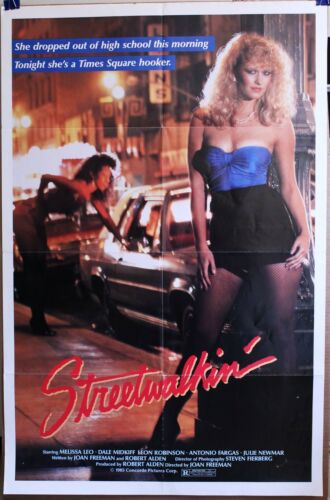 Streetwalkin 1985 27 X 40 FOLDED one sheet lady of the night in Times Square