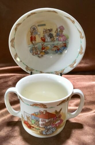 "ROYAL DOULTON ""BUNNYKINS"" CUP AND BOWL SET ENGLAND"