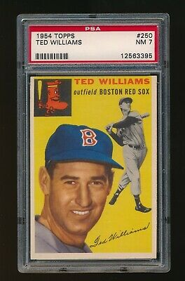 1954 TOPPS  TED  WILLIAMS  PSA  7  NM  BOSTON RED SOX  #250  CENTERED, SHARP! Boston Red Sox Center