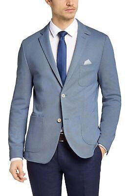 Hugo Boss Men's 'Nerrius' Slim Fit Light Blue Cotton Blend Sport Coat Blazer 40R Blend Mens Sport Coat