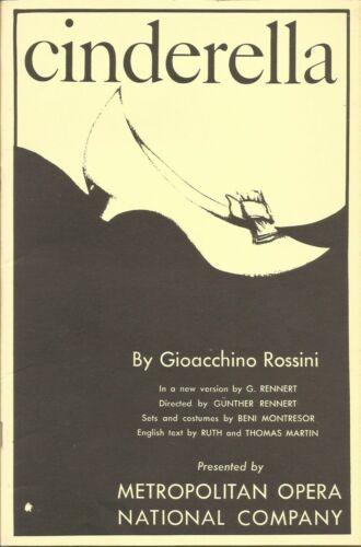 Vintage Metropolitan Opera Libretto Rossini