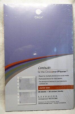 Contacts Smartplanner Levenger Circa Refill Junior Size Free Shipping