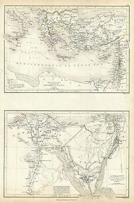 1844 Black Map of Egypt, Asia Minor and the Sinai Peninsula