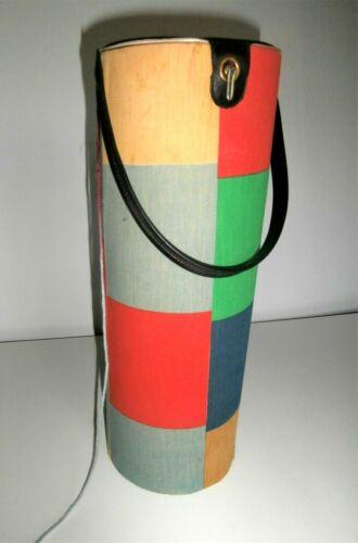 "Old vintage yarn holder dispenser for knit or crochet thread yarn 14"" tall tote"