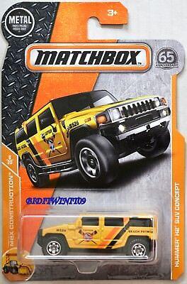 MATCHBOX 2018 MBX CONSTRUCTION HUMMER H2 SUV CONCEPT