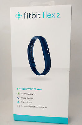 Fitbit Flex 2 Activity Tracker Waterproof Bracelet - NAVY Brand New Sealed