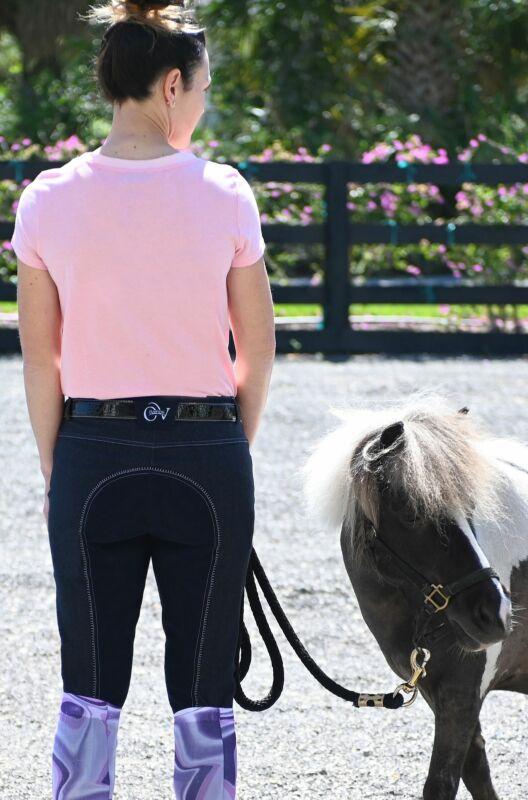 Ovation Ladies Euro Jean Front Zip Full Seat Breeches
