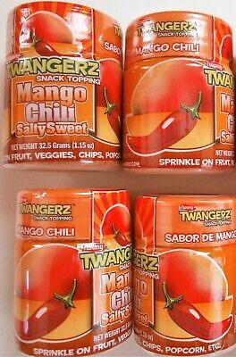 Mango Chili Salty Sweet, Twang Twangerz Snack Topping Salt, 4 shakers