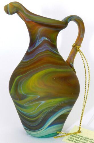 "Antique Ancient Holy Land PHOENICIA Hand Made Glass Jug Vase Pitcher Bottle 4.1"""