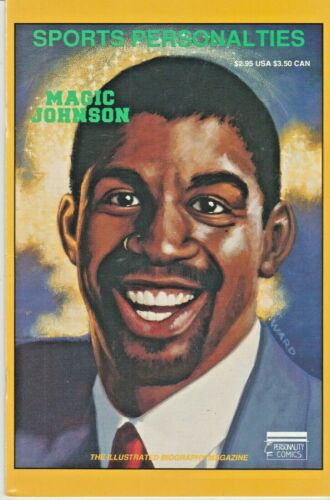 "SPORTS PERSONALITIES #4  EARVIN ""MAGIC"" JOHNSON  PERSONALITY 1991 NICE!!!"