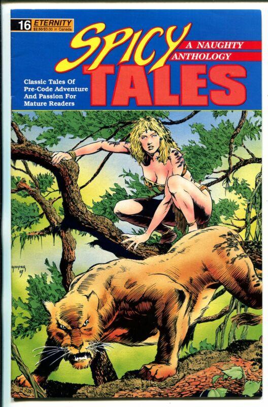 Spicy Tales #16 1990-Jungle Girl-reprint comics-Dan Turner-Sally Sleuth-VF/NM