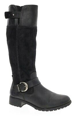 TIMBERLAND Boots 8 W Womens Knee High Black Suede Leather Engineer Riding Boots