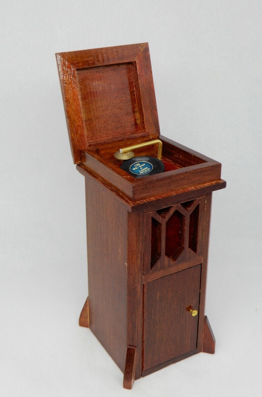 Vintage Record Player Cabinet W Records Dollhouse Miniature 1 12 - $19.99