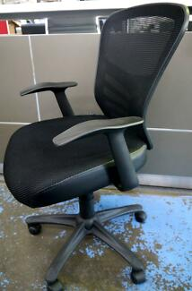 task chairs melbourne. new black mesh fully ergonomic yarra home office task chairs melbourne i