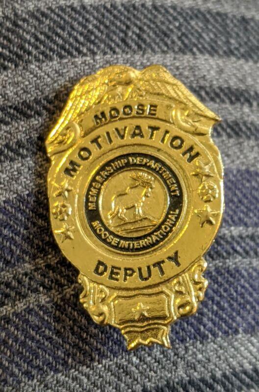 Rare Hard to Find Vintage Moose Motivation Deputy Moose International Membership