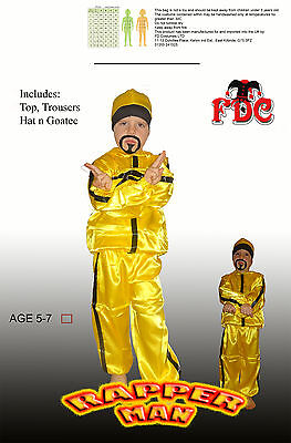 Ali G Rapper Child Fancy Dress Costume By Celebration Central Age 5-7 Years