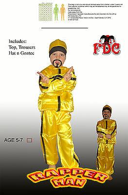 Ali G Rapper Child Fancy Dress Costume By Celebration Central Age 5-7 Years](Boys Rapper Costume)