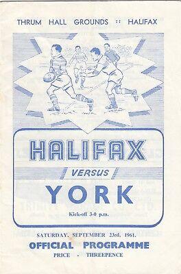 Halifax v York 1961/2 (23 Sep)