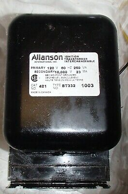 Allanson Ignition Transformer Interchangeable 421 Bt332 1003 Hvac Boiler
