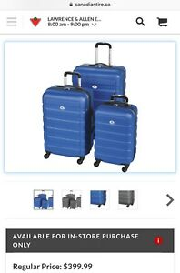 Brand New Outbound Hardside Spinner Luggage Set, 3-pc
