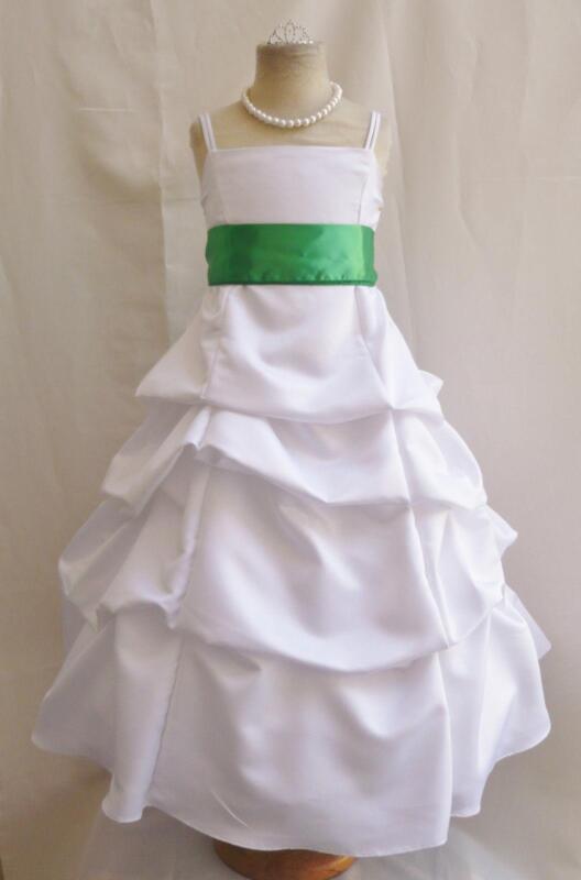 Kelly Green Flower Girl Dress Ebay
