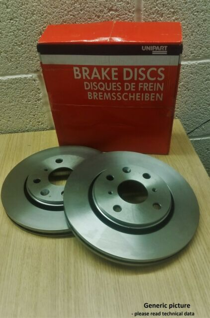 Brake Disc Set GBD1176 Vented 4 Hole Front, Ford Focus, Courier, Fiesta, Puma ,