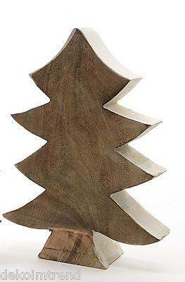 Baum Dekobaum stehend Mangoholz Tischdeko Türdeko Weihnachten Winter 22 cm ()
