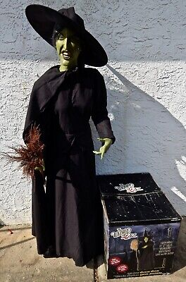 WIZARD of OZ Life Size Wicked Witch Gemmy Sound Only w/Box 6' Tall, PICKUP ONLY