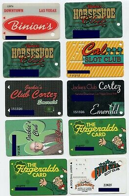 Lot of 19 (16 different) Casino Player's Club Slot Cards from Downtown Las Vegas