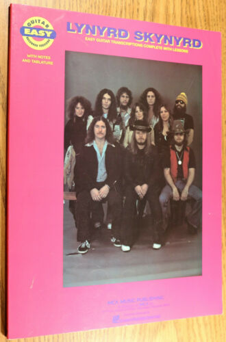 LYNYRD SKYNYED Easy Guitar Lessons - Songbook Sheet Music 78 pgs Transcriptions