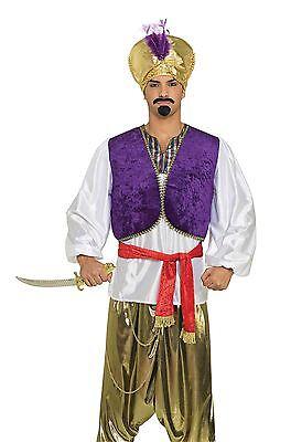 Prinz Kostüm Lila (Wüsten-Prinz Shirt-Weste, arabische/arabische Nacht, Herren Kostüm #DE)