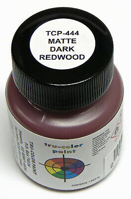 MATTE DARK REDWOOD TRU-COLOR AIR BRUSH READY PAINT N HO O On30 Model RR TCP4442