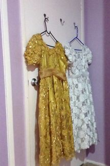 2 princesses dresses GOLD & WHITE Bidwill Blacktown Area Preview