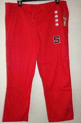 Red Gelscrubs Pant - GelScrubs Unisex Drawstring Pant w/ pocket university of north Carolina Sz Large