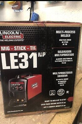 Lincoln K3461-1 Le31mp Multiprocess Welder Mig Tig Stick 120v 120amp New