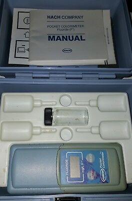 Hach Pocket Colorimeter Fluoride Cat No 46700-05 W Manual Case