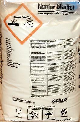 pH Minus Granulat / pH Senker Granulat / pH Wert Senker - 25 kg Sack von Grillo