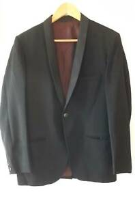 Men's Vintage 70s Black Tuxedo Dinner Suit Size M