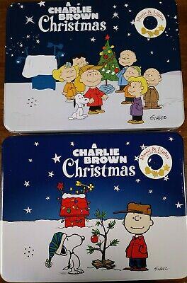 A Charlie Brown Christmas Holiday Sugar Cookies Peanuts TIN SET Music Light New! Brown Christmas Light