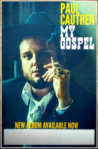 PAUL CAUTHEN My Gospel Ltd Ed New RARE Tour Poster +BONUS Folk Country Poster