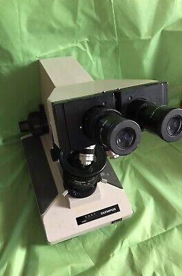 Olympus Bh2 Polarizing Binocular Microscope W 4 Objectives 10x20l Eyepieces