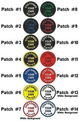 """*GUARANTEED* Custom Embroidered PATCH 3"""" ROUND Curved text"""