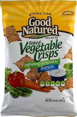 Good Natured Selects Gluten Free Baked Crisps (Vegetable Ranch 6.5 oz, 4 Bags)
