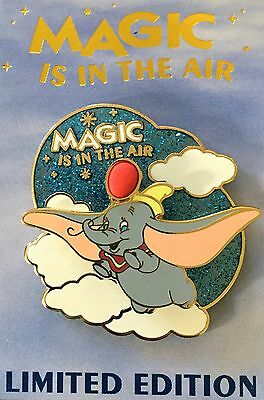DISNEY PIN DUMBO FLYING IN THE CLOUDS MAGIC IS IN THE AIR QUARTERLY LE EXCLUSIVE