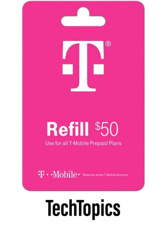 T-Mobile Prepaid $50 Refill Card (Direct)