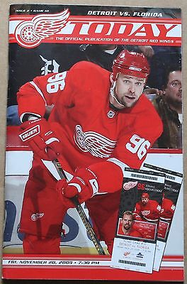 Tomas Holmstrom Detroit Red Wings - 2009-10 Florida Panthers at Detroit Red Wings Program Tomas Holmstrom Cover