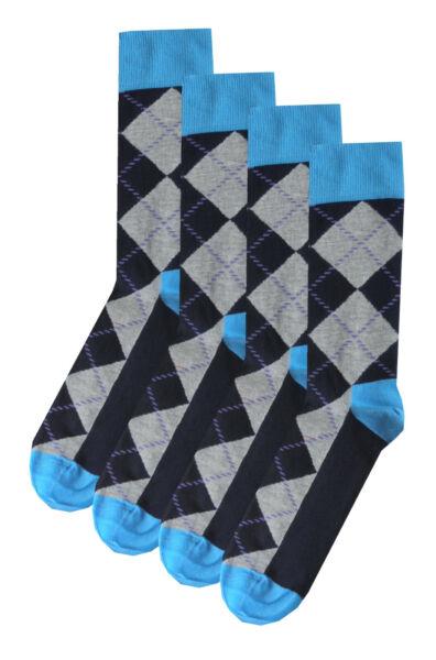 HAPPY SOCKS Mens Pair Stripe Cotton Navy Blue Multi Socks UK 7½-11½ /> BNWT