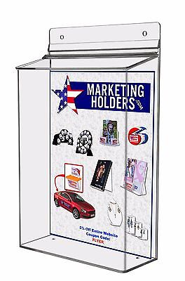 Outdoor 8 X 11 Brochure Box Catalog Display Holder Lot Of 24 Wholesale