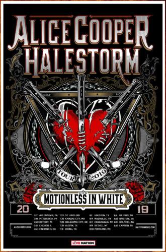 ALICE COOPER | HALESTORM | MOTIONLESS IN WHITE 2019 Ltd Ed RARE New Tour Poster!