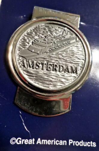 ms Amsterdam. Holland America Line Money Clip. Ocean Liner. Cruise Ship.Boat NIB